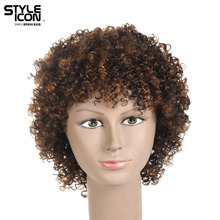 Styleicon Wig Malaysian Kinky Curly Virgin Hair Wigs For Women Color 1b And Color Dx1029 Short Human Hair Wigs Free Shipping