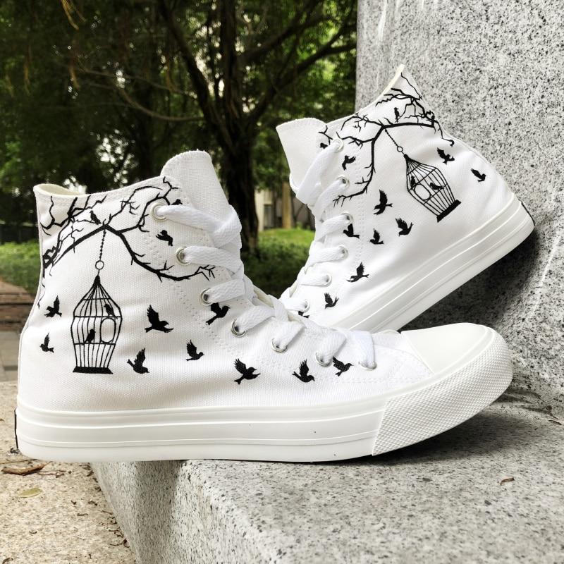 White Canvas Shoes Sneakers Women Men