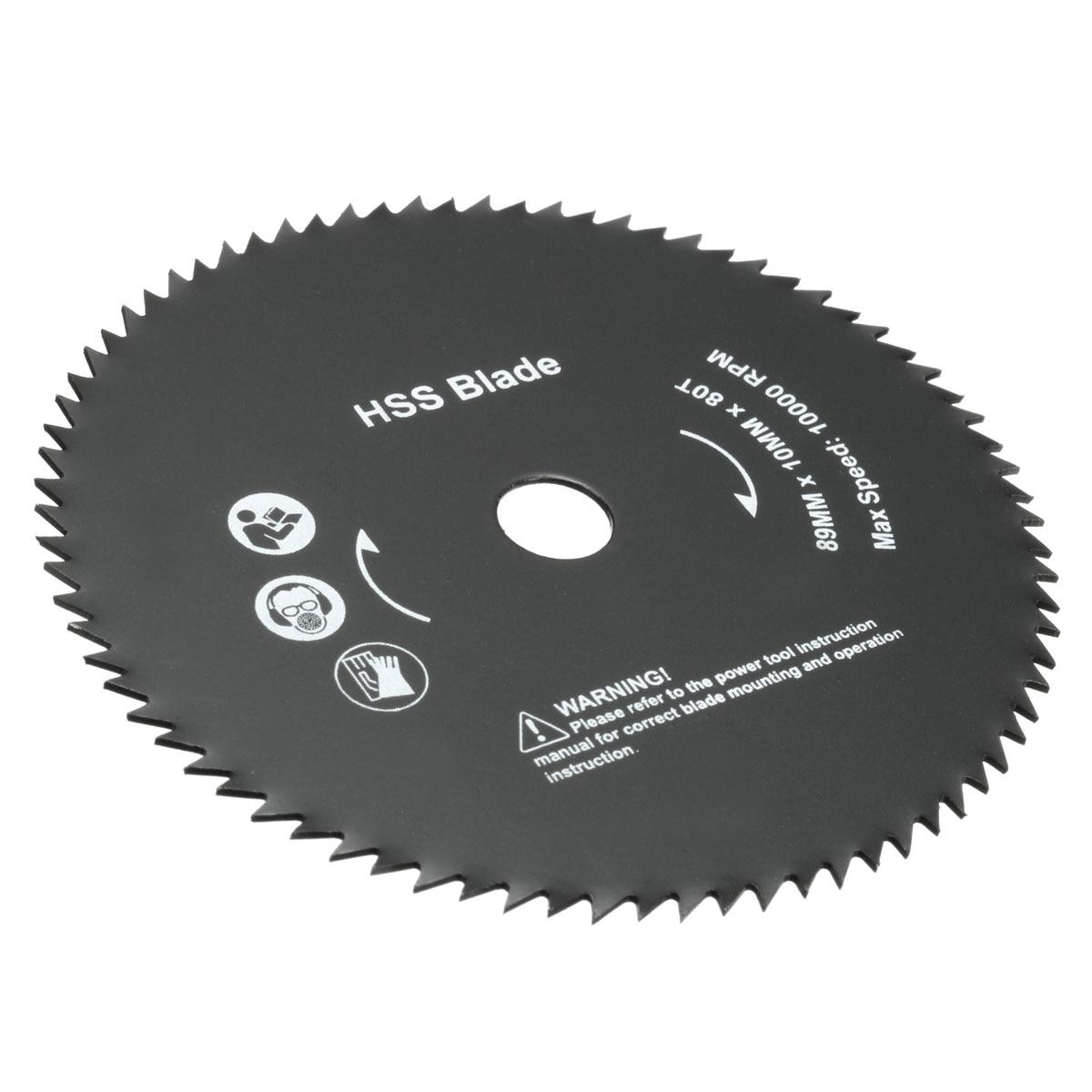 Top Quality 1PC 3.5''x0.39'' 80 Teeth Circular Saw HSS Rotary Blade Cutting Discs Wheel Tool New Arrival 6cm x 0 05cm x 1 6cm 72 teeth hss slitting saw blade cutting tool