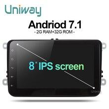 Uniway ADZ8071 2 din android 7 1 car dvd for vw passat b5 b6 golf 4