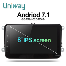 Uniway ADZ8071 2 din android 7 1 car dvd for vw passat b6 b7 golf 5