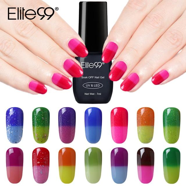 Elite99 Farbe Ändern Chameleon Gel Nagel Lack Long Lasting Temperatur Ändern UV Gel Nagellack Glitter Gel Lack