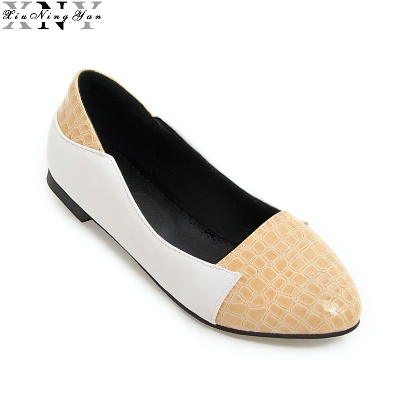 New Casual Spring Summer Shoes Women Flats Pointed Toe Flat Heel Fashion Women's Flats Ladies Brand Shoes Big Size 32-48 6/30 meotina brand design mules shoes 2017 women flats spring summer pointed toe kid suede flat shoes ladies slides black size 34 39