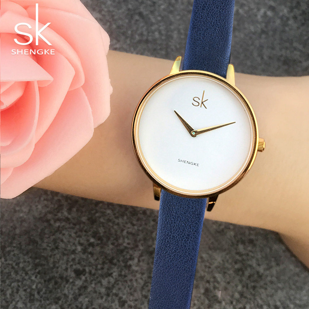 SK 2017 Fashion Women Watches Brand Famous Quartz Watch Female Clock Ladies Wrist Watch Montre Femme Relogio Sat Shengke Gift