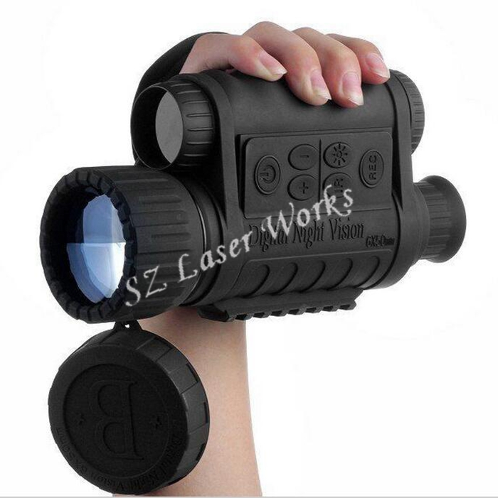 Hunting Digital Infrared 6X50 Night Vision Monocular telescope 5MP HD 350m Range For Picture Video Shooting bestguarder digital night vision monocular ir wildlife 6x50mm 5mp hd camera hunting infrared 850nm night vision telescope