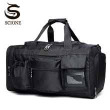 Menn Reise Vesker Bagasje Nylon Duffle Bag Reise Håndveske Vanntett Weekend Bag Stor Big Shoulder Bag Menn Solid Black Color Tote
