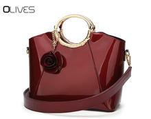 Luxury Handbags Top Handle Bags For Women 2018designer Inspired Handbag Las Patent Leather Tote Bag