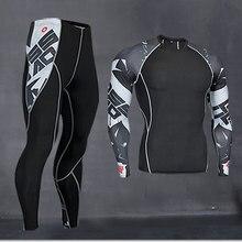 Термобелье, мужское длинное нижнее белье, компрессионная одежда, рубашка для фитнеса, мужская рубашка для бега, тренировочные штаны, термобелье