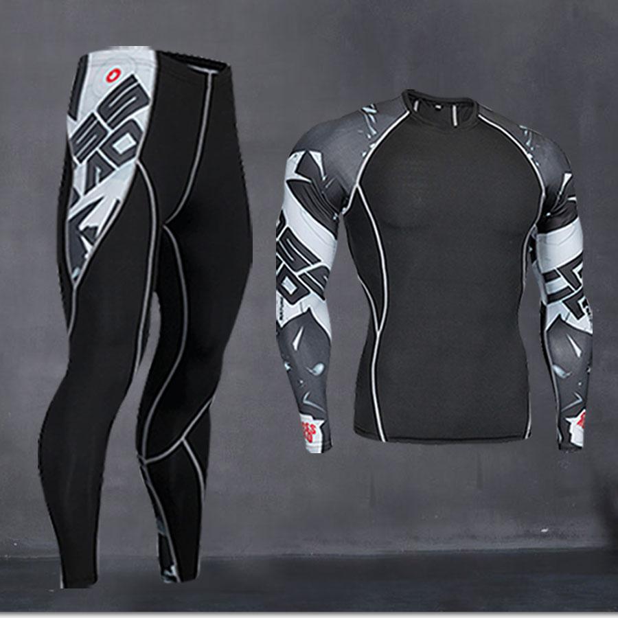 Thermal Underwear Men's Long Underwear Compression Clothing Fitness Shirt Men Running Shirt Training Pants Thermal Underwear