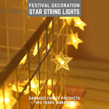 AC220V Led Star Shape Fairy Lights Christmas String Lights Indoor 10M Warm White 5-10W Christmas Decorations For Home