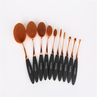 10pcs Sets New Products Selling European And American Toothbrush Rose Gold Makeup Brush Brush Beauty Beauty