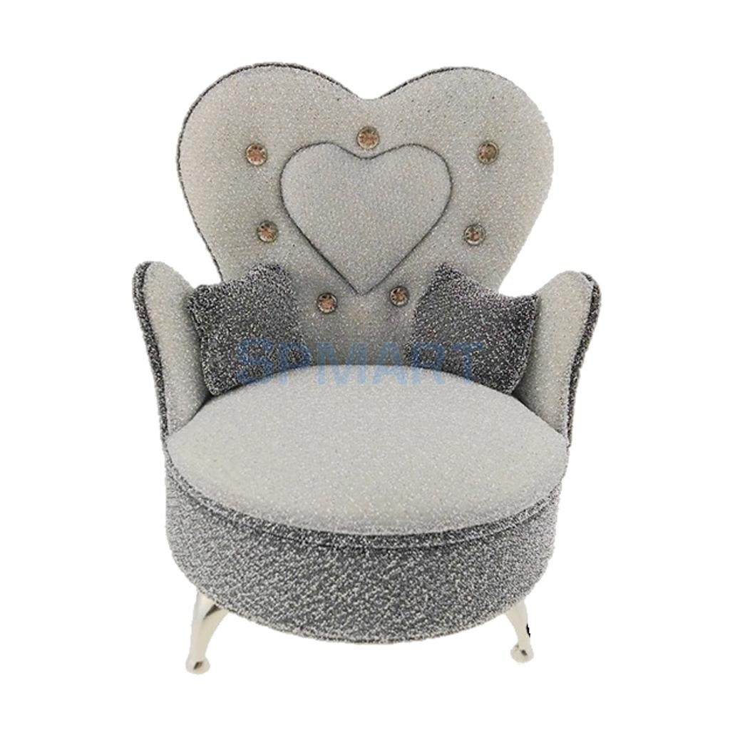 16 Scale Modern European Style High-Grade Sofa Chair Armchair with 2 Cusions for Dolls House Furniture Decor Hot Toys Acc