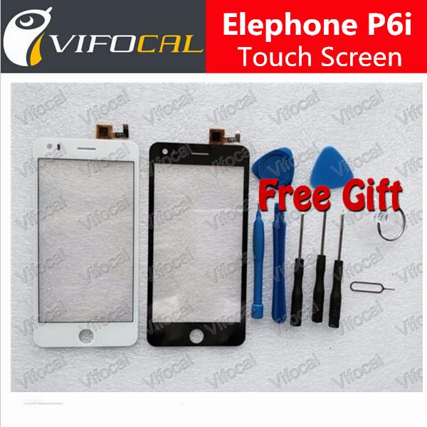 Elephone P6i Tela Sensível Ao Toque Painel Digitalizador 100% tela de Substituição Original Para Jiayu G5 + Frete Grátis-Branco Preto