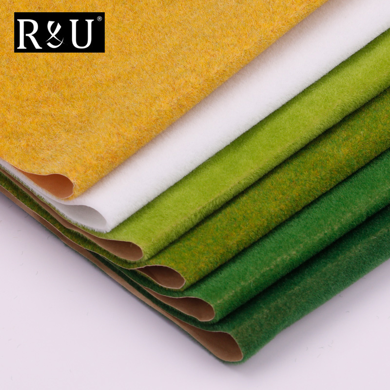 250mm*250mm Landscape Grass Mat For Model Train Adhesive Paper Scenery Layout Lawn Diorama Accessories