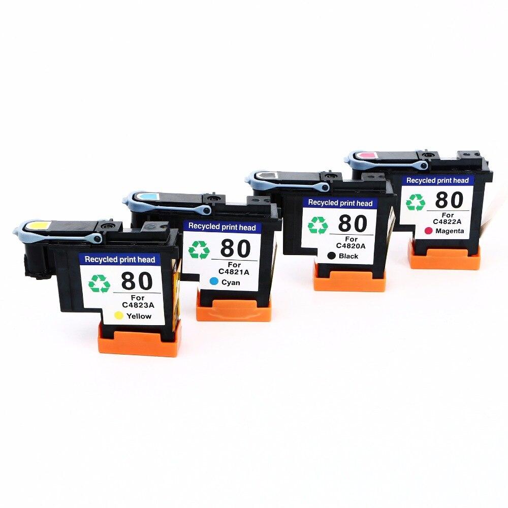 C4820A C4821A C4822A C4823A for HP80 Print Head for HP 80 Printhead for HP Designjet 1000 1000plus 1050 1055 Printer 2015 new 4 pcs high quality printhead for hp80 c4820a c4821a c4822a c4823a for hp designjet 80 1000 1050c 1055cm free shipping