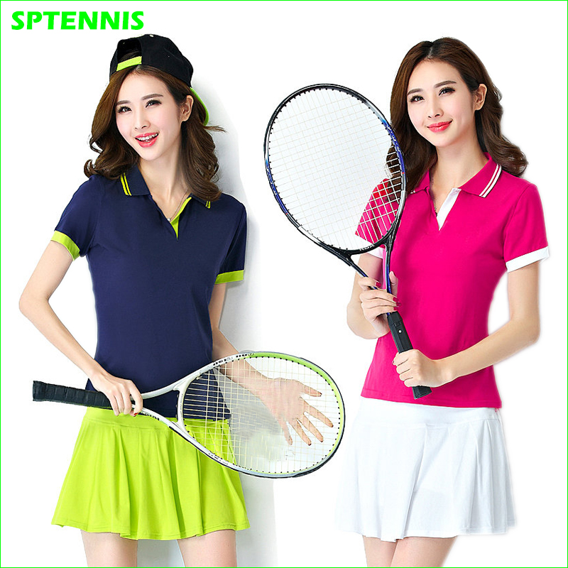 Woman's Sports Suits Cotton Badminton Running Table Tennis Skirt and Tee Shirt Good Quality
