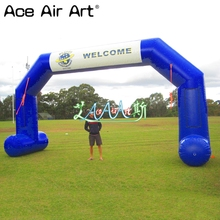 Finish-Line Fabric Arch with Badge for Important Sports/races 8m-W Welcome Oxford Start