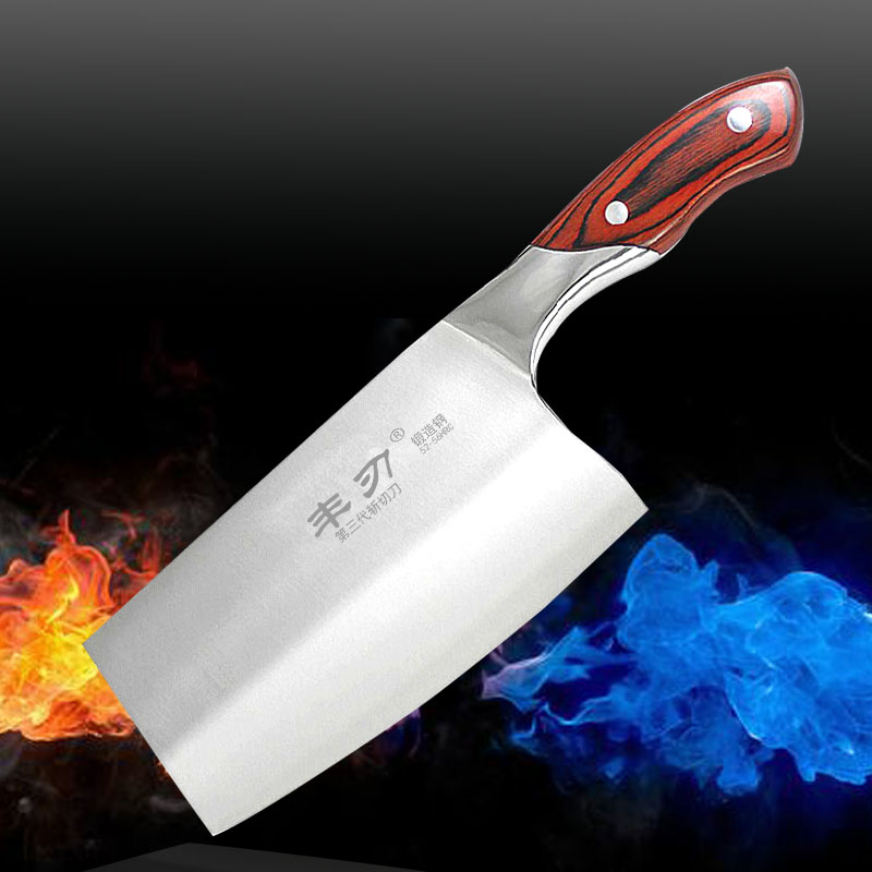 Kitchen font b Knives b font Cooking Tools Stainless steel dual slicing hotel chop bone carving