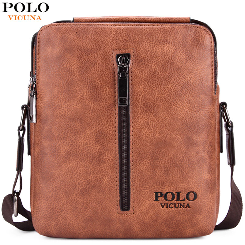 VICUNA POLO Vintage Casual High Quality Leather Mens Messenger Bag With Handle Brand Leather Mens Bags Leisure Men Travel Bag high quality authentic famous polo golf double clothing bag men travel golf shoes bag custom handbag large capacity45 26 34 cm