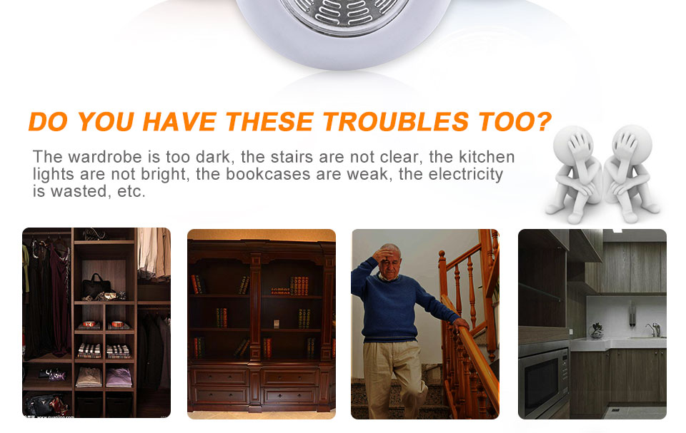 LED Stick Touch Night light AAA Battery Powered Stick Tap Worldwide Kitchen Cabinet Closet Push Tap Home Stick On Lamps (2)