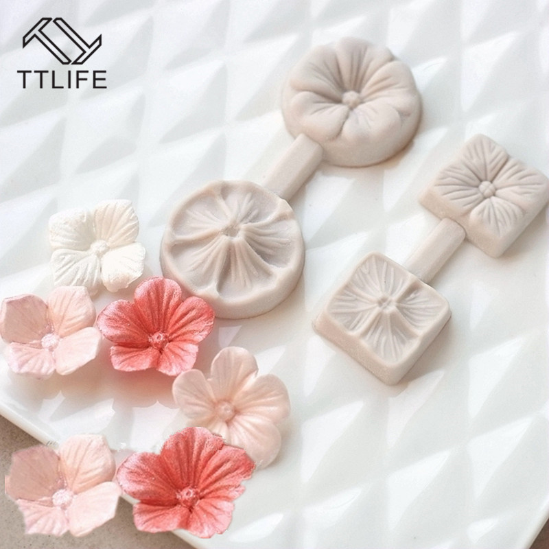 TTLIFE 3D Five Petals Flower <font><b>Silicone</b></font> <font><b>Mold</b></font> <font><b>Fondant</b></font> <font><b>Cake</b></font> <font><b>Decorating</b></font> <font><b>Tools</b></font> Chocolate Confeitaria Baking Moulds Kitchen Accessories image