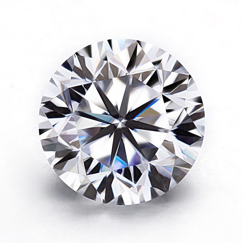 Starszuan Round Brilliant Cut DEF 1ct 6.5mm Test Positive VVS Loose Moissanite Stone for Jewelry Making with GRA Certificate