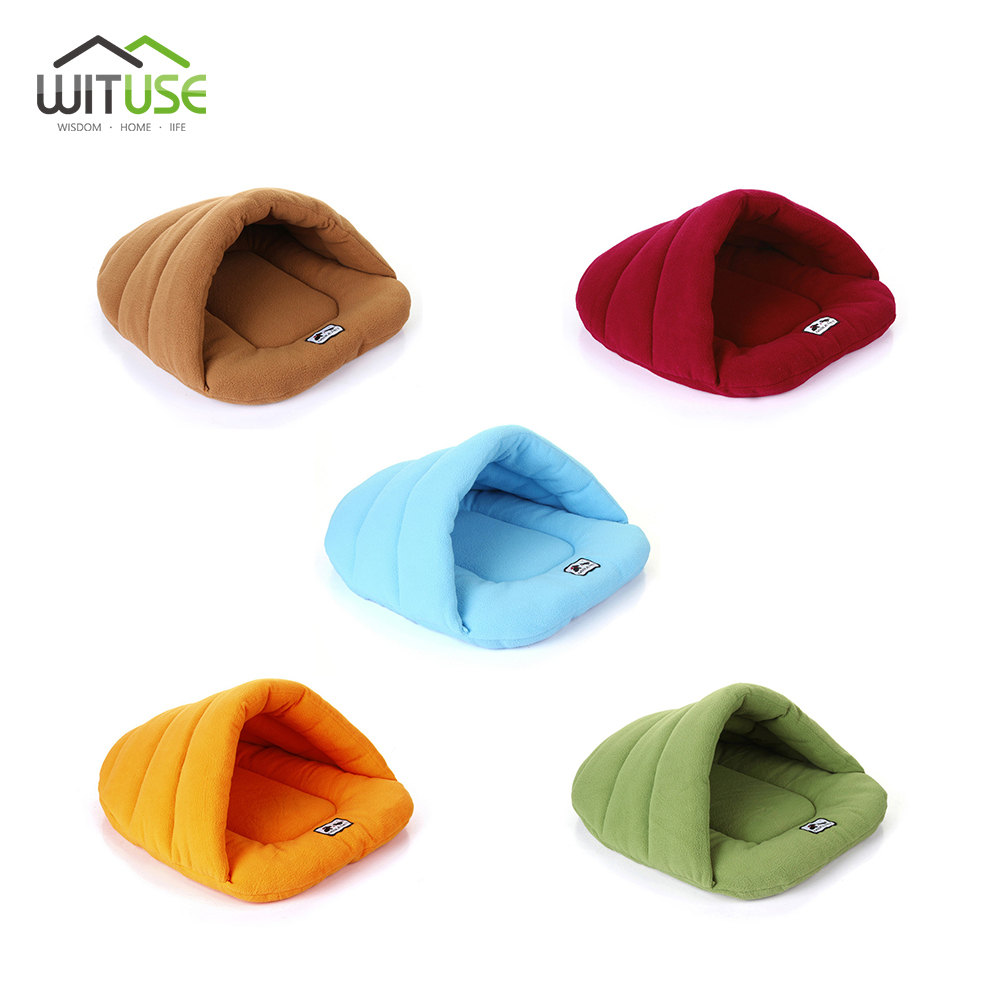 Cute Hot Bamboo Fleece Pet Puppy Cat Dog Bed Colorful Dog Sofa Bench Nest Kitten For Cat ...