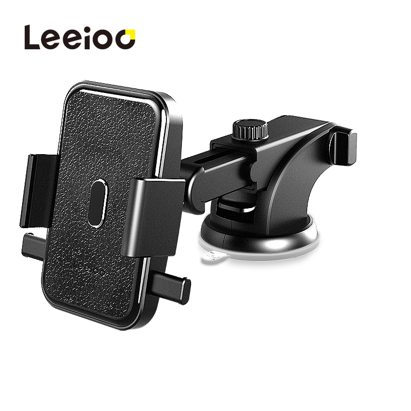 LEEIOO Universal Car Phone Holder For iPhone X 7 Samsung S9 360 Rotate Adjustable Stand Holder For Phone in Car Telefon Tutucu