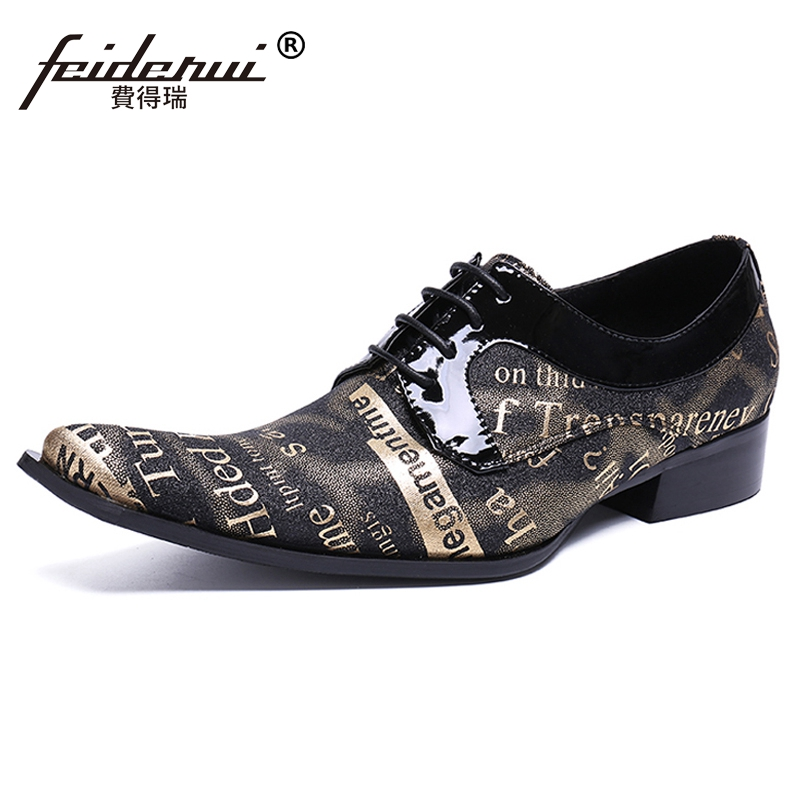 Plus Size New Designer Pointed Toe Derby Man Banquet Footwear Formal Genuine Leather Wedding Party Men's Dress Shoes SL432 hot sale mens genuine leather cow lace up male formal shoes dress shoes pointed toe footwear multi color plus size 37 44 yellow