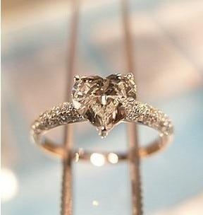 Bagues de mariage pour femmes 925 bague coeur en argent Sterling anneaux de promesse 1 Carat
