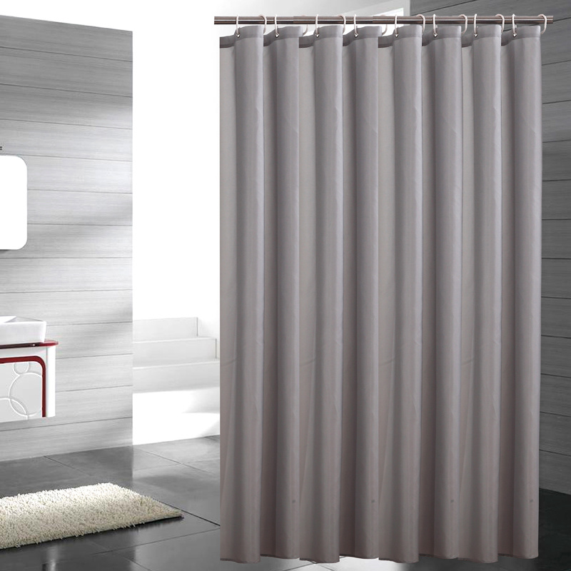 Modern Polyester Solid Color Shower Curtain Waterproof Mildew Thicken Home  Gray Bathroom Curtain Custom Made In Shower Curtains From Home U0026 Garden On  ...