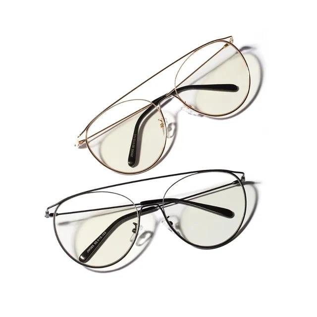 Joubas Round Frame Glasses 2019 Women/Men Oversized Metal Plain Spectacles Vintage Fashion Big Eyeglasses Clear Lens Shades 105
