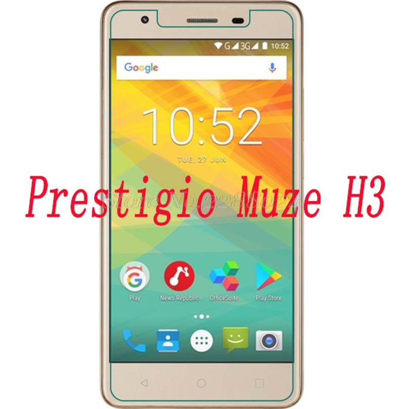 Smartphone 9H Tempered Glass for Prestigio Muze H3 <font><b>PSP3552</b></font> <font><b>DUO</b></font> Explosion-proof Protective Film Screen Protector cover phone image