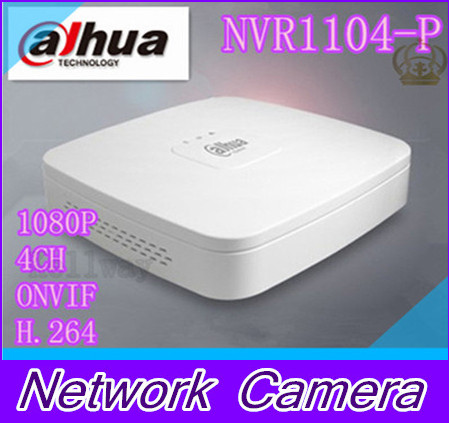 цены 2015 New original Dahua NVR NVR1104-P Network Video Recorder 4 Channel 1080P CCTV NVR 4CH IP Camera ONVIF H.264 Fast Shipping