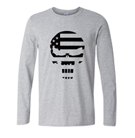 Amerikaanse Sniper Chris Kyle Mannen T-shirt Punisher Schedel Navy Seal Team herfst lange mouwen Fashion Top Tee Casual Tshirt S-2XL