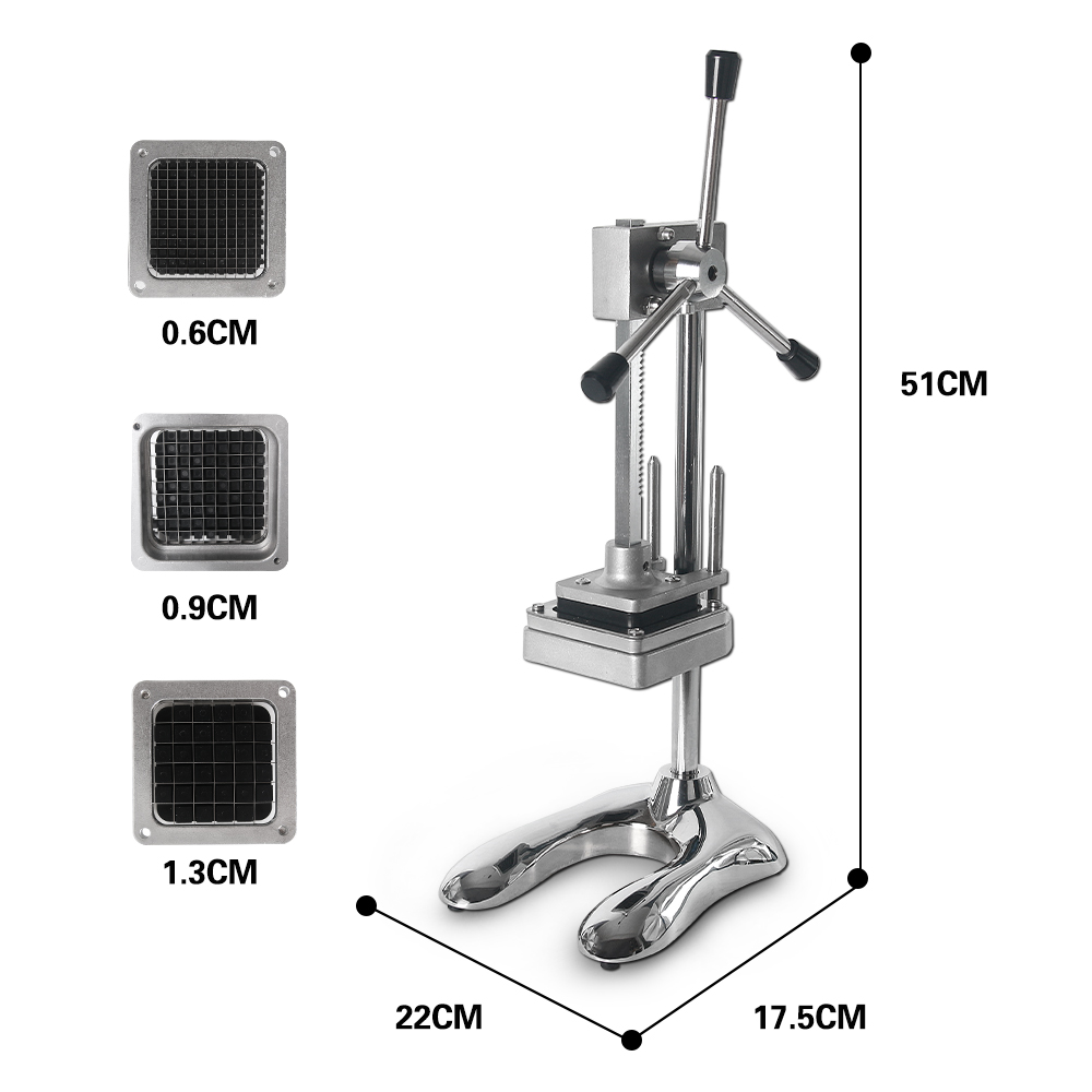 Manual Cut French Fries Machine Potato Cutter Chips 3 Blades Fruit and Vegetable Making Machine in French Fry Cutters from Home Garden