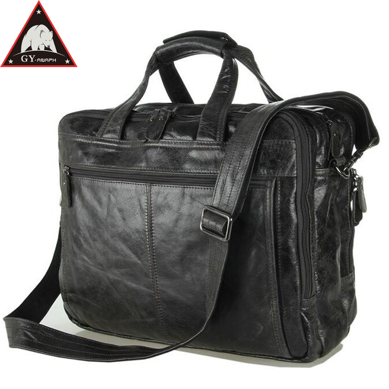 все цены на ANAPH Full Grain Leather Briefcase Men's Casual Totes 15 Inches Laptop Bag High Quality Office Bags For Men Large Capacity Grey