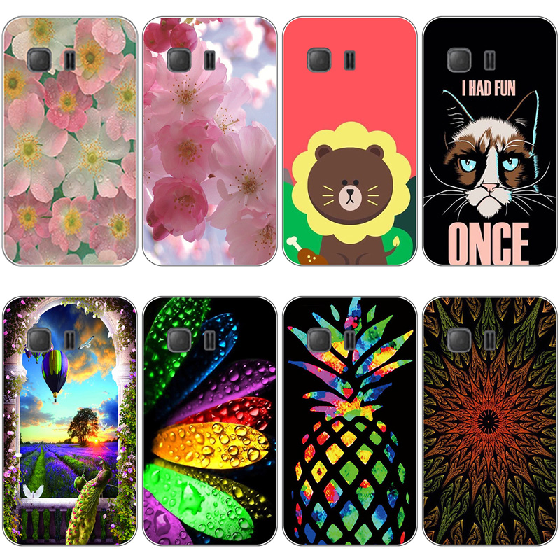 Coque for Samsung GALAXY Young 2 G130 G130H Cases Soft TPU Painted Silicone Back Covers for GALAXY Young 2 G130H Fundas Coque