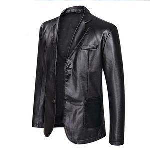 Image 5 - 10xl 8xl 6xl 5xl 4xl marca jaqueta de couro do plutônio dos homens outono inverno casual jaquetas sólidos roupas elásticas motocicleta outerwear