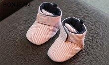 2018 детские туфли из хлопка зимние толстые теплые 6-12 месяцев Детские туфли на мягкой подошве eyzbnx42