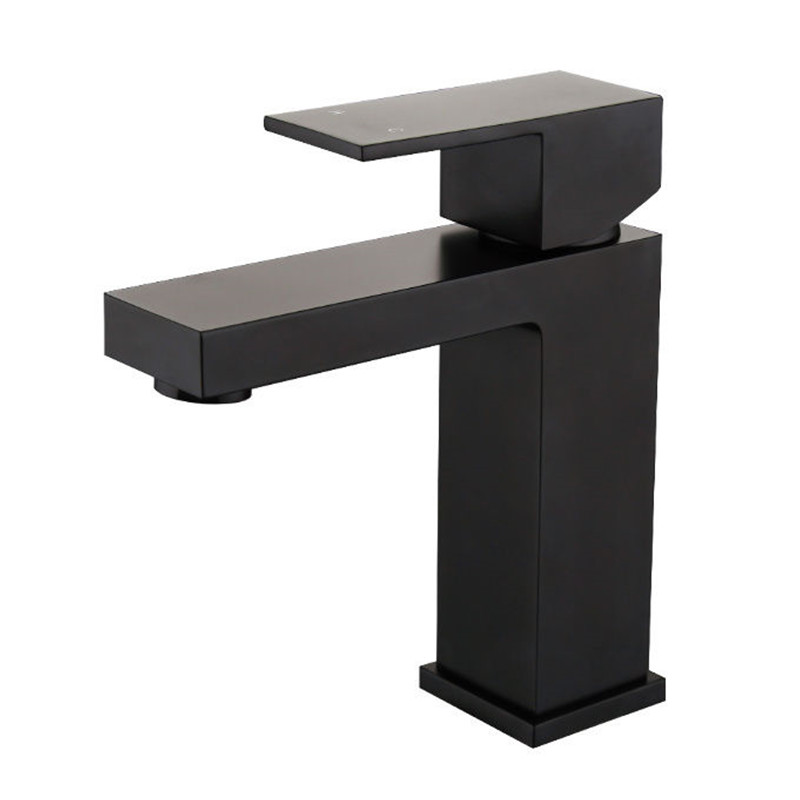 Free ship Solid Brass single hole /handle Deck Mount Vessel Faucet Matt Black Square Bathroom Basin Tap MixerFree ship Solid Brass single hole /handle Deck Mount Vessel Faucet Matt Black Square Bathroom Basin Tap Mixer