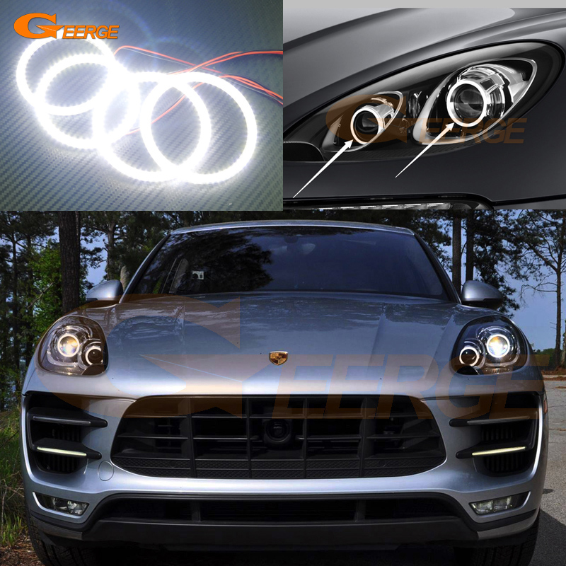 For Porsche Macan 2015 2016 Excellent Angel Eyes Ultra bright illumination smd led Angel Eyes Halo Ring kit фаркоп porsche macan 2013 без электрики фаркоп porsche macan 2013 без электрики 2 ро