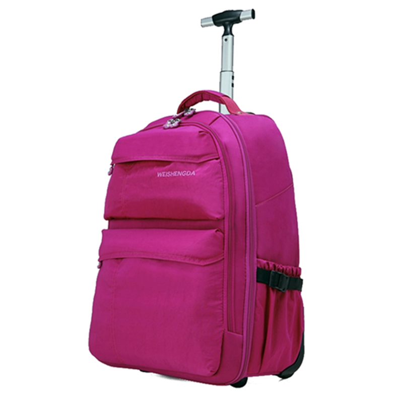 Wholesale!High quality nylon waterproof travel luggage bags on fixed caster,19 21inch oxford travel luggage sets,backpack 1pz 3 inch high quality wearable long working life fixed nylon medium duty caster and weel