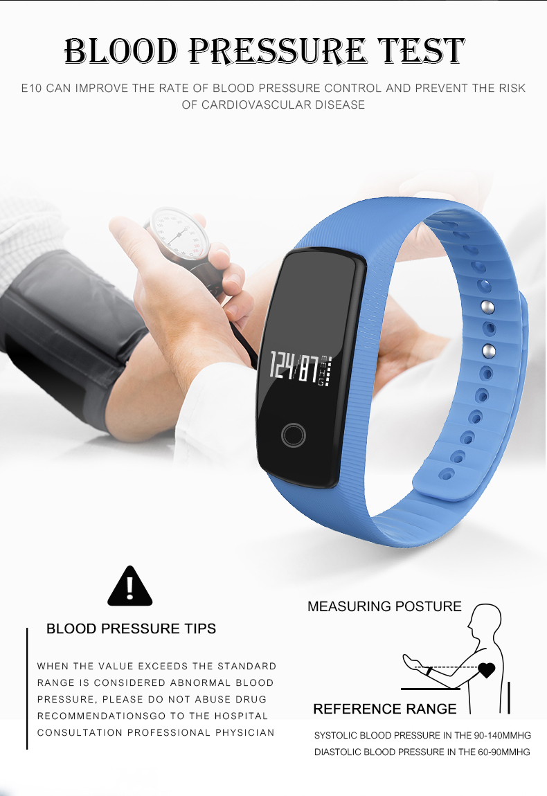 Original LETIKE WP109 colorful Smart Bracelet Heart Rate Monitor Fitness Tracker Smartband IP67 PRO Smart Wristband For APP 5