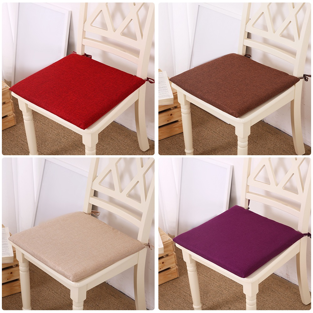 Home Office Decor Soft Square Chair Cushion Seat Pad Fixed