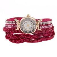 Fashion Luxury Dress Watch Women S Quartz Wristwatches Leather Women Bracelet Watch Rhinestone Jelly Clock Relogio