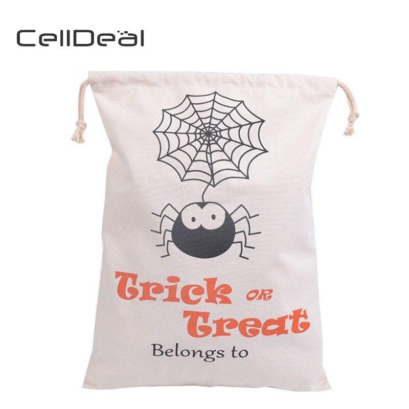 Celldeal truco o alfabeto patrón Cartoon cordón araña calabaza sacos ...
