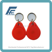 100pcs NFC keyfob tags NDEF formatted Red Key fob compatible with all nfc mobile phones Ntag213