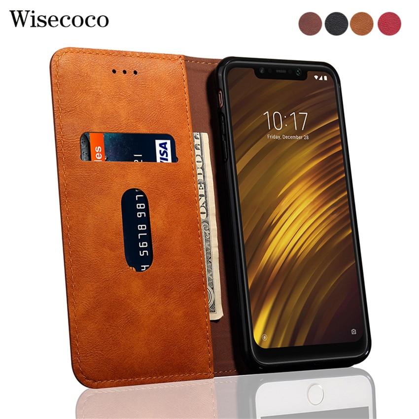 Retro Pocophone F1 Flip Case for Xiaomi Pocophone F1 Luxury Leather Wallet 360 Protect Fundas for Mi Poco Phone F1 Poco F1 Cover
