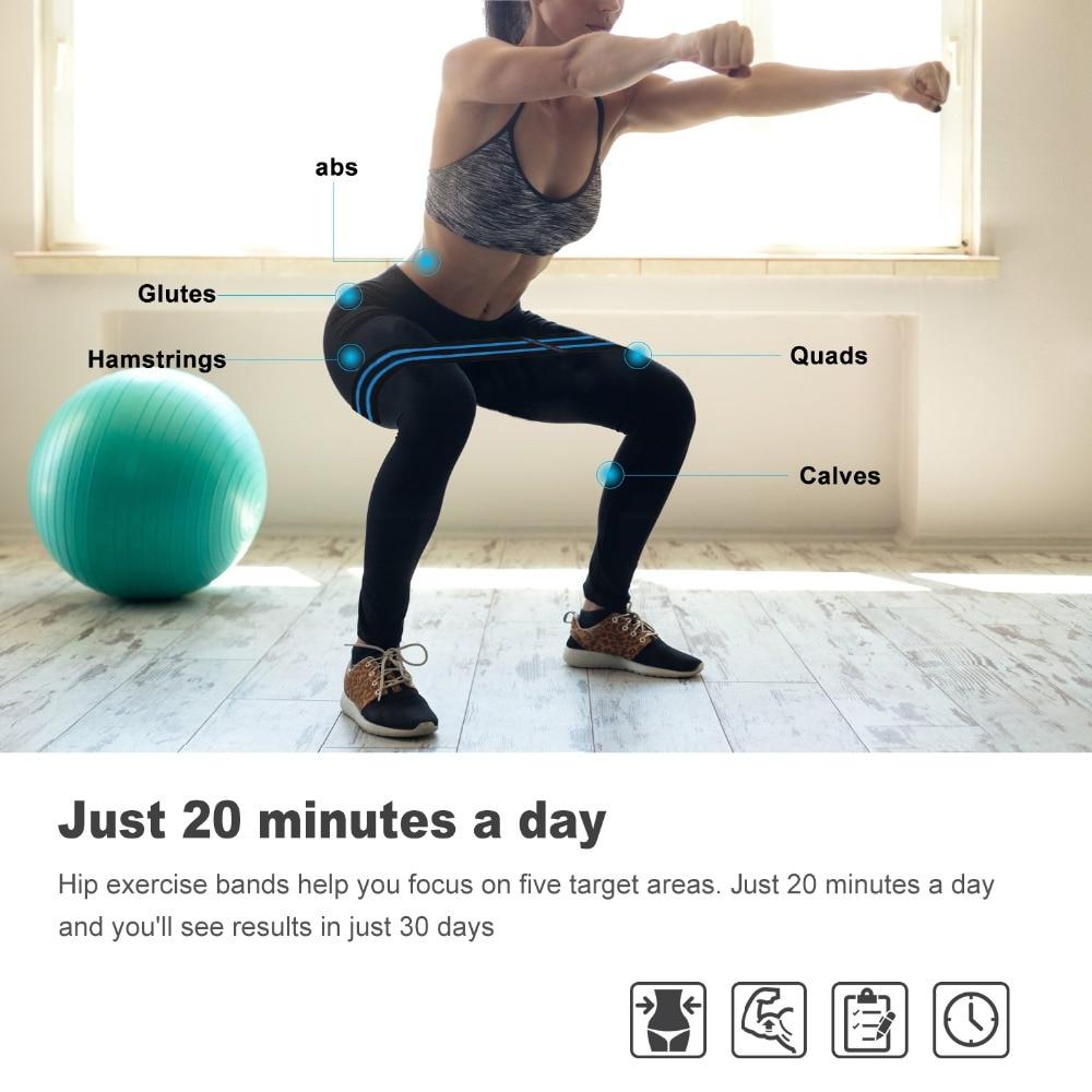 Resistance Bands Loop Set Home Gym Fitness Exercise Glutes Leg Arm Yoga Pilates.